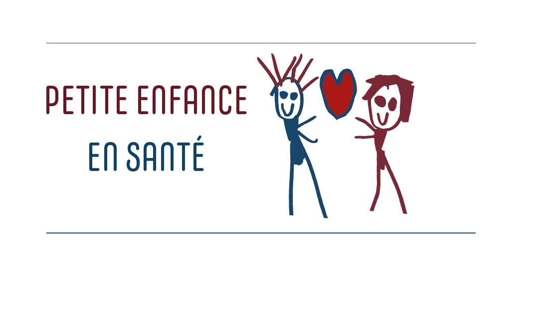 deux enfants et un coeur : logo Petite enfance en santé